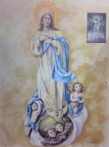 被爆前の聖母マリア像