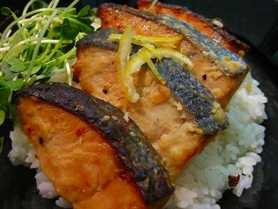 鮭の味噌漬け丼