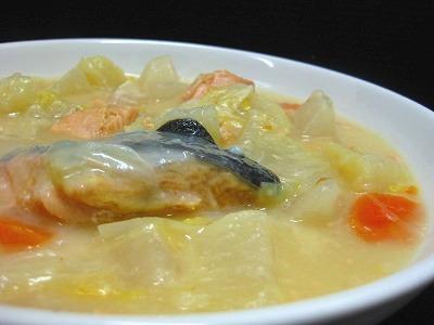 100204 鮭と白菜のクリームシチューIMG_2458