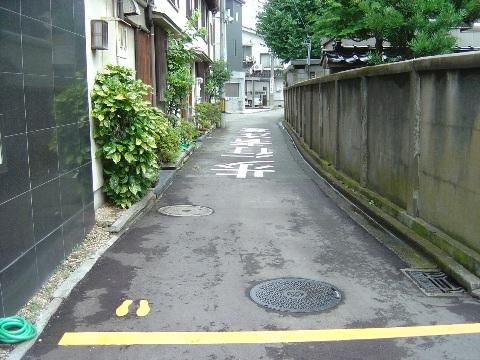 歩行者用停止線!(2009.08.11)