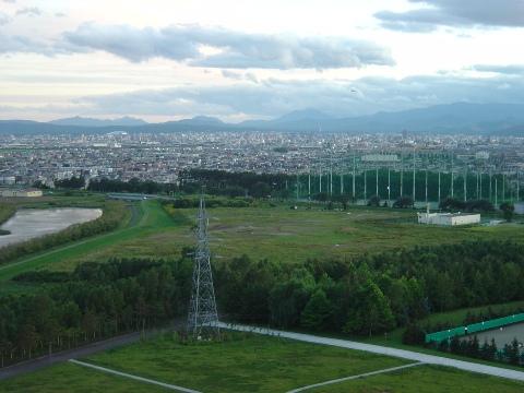 札幌ドームも見える(2009.08.22)