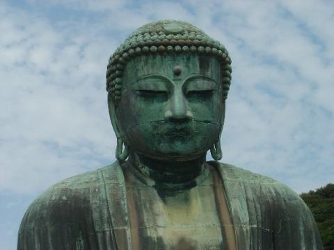 鎌倉の大仏様、アップ(2009.09.22)