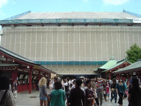 浅草寺は工事中(2009.09.23)