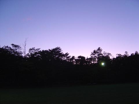 職場地方の黄昏(2009.10.05)
