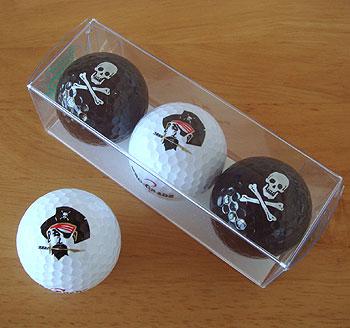 ドクロ&海賊 ゴルフボール!