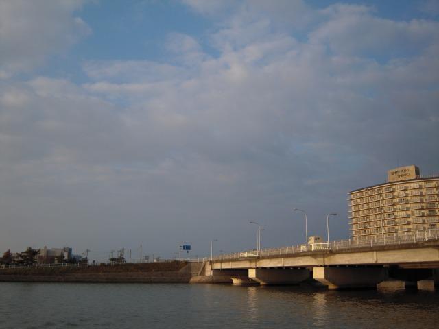 千葉県白子町・南白亀川(ナバキガワ)河口付近
