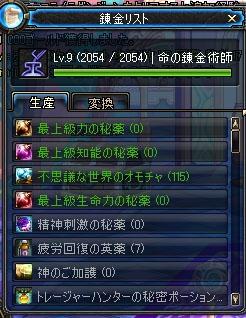 錬金術師Lv9