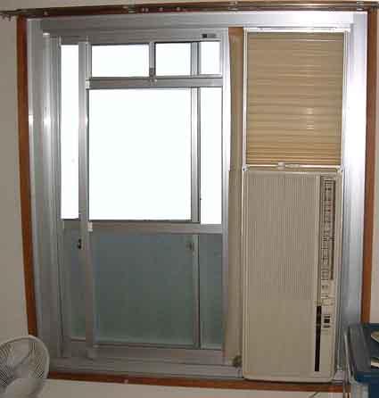 窓コン設置完了
