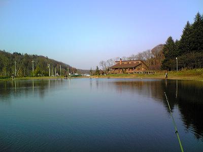 ハウス&池