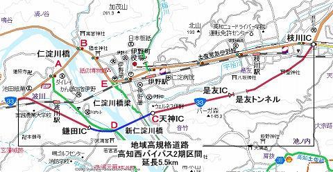 仁淀川橋地図