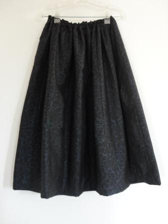 唐草大島紬5枚接ぎスカート
