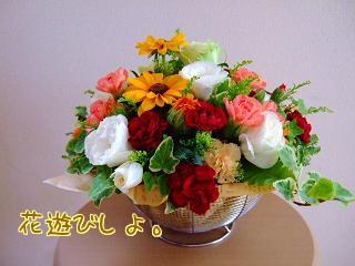 バスケットの花