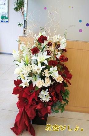 クリスマスの大きな壺花