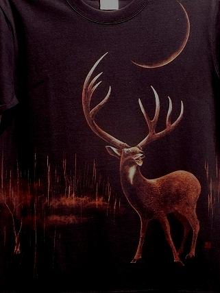 シカ 手描きTシャツ 201110132