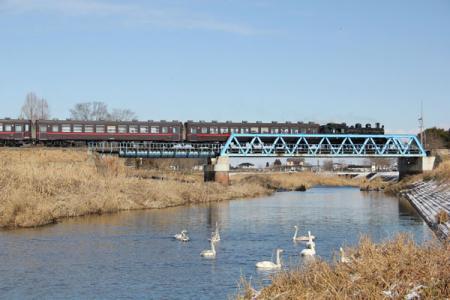 小貝川橋りょうの冬