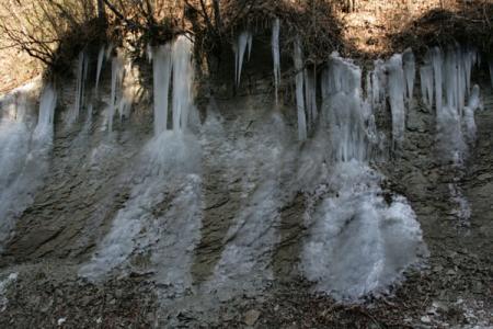 那珂川町の氷柱