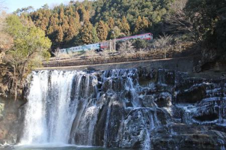 龍門の滝と鉄道