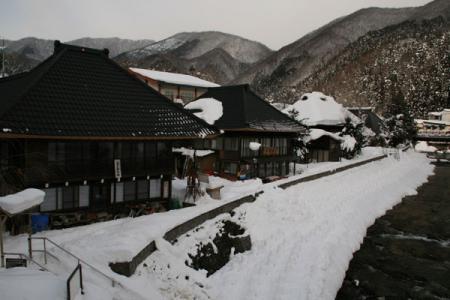湯西川温泉の冬