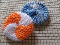 エコたわし~ガーター編みのシンプル丸型