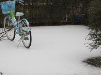 2011初雪…駐輪場はこんな感じ