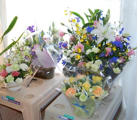たくさんのお花をありがとうございました