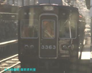 阪急電車の夕方と逆光 5