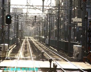 阪急電車の夕方と逆光 6
