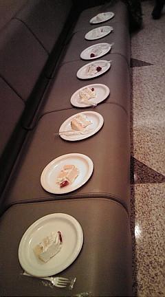 並べられたケーキ