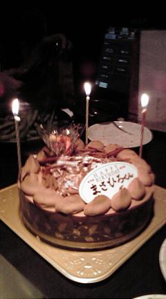 山中さん誕生ケーキ