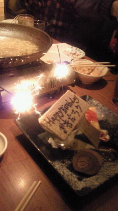 花火ケーキ