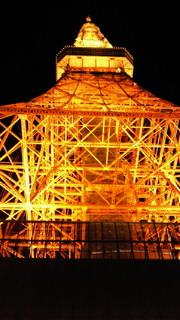 夜の東京タワー(真下)