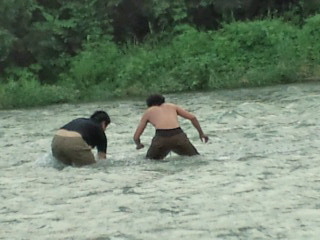 杉山大さんと川