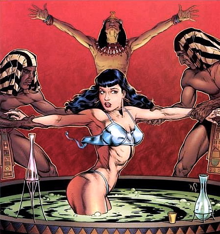 Egyptian Betty Page comics by Dave Stevens