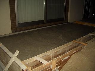 外構工事 タイルデッキ コンクリート打設