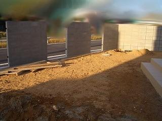 外構工事 外壁 南側下地処理