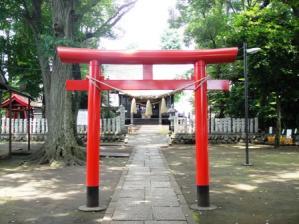 新田稲荷神社鳥居