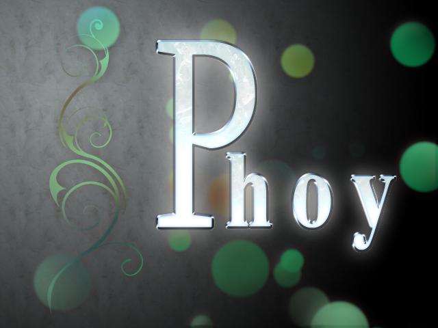phoy文字