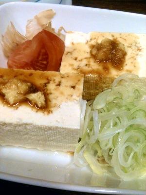 木綿豆腐の冷ややっこ