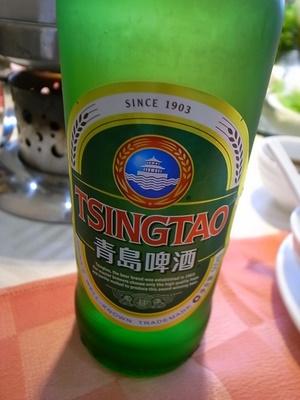 大連なのにビールは青島
