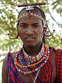 マサイ族の男性