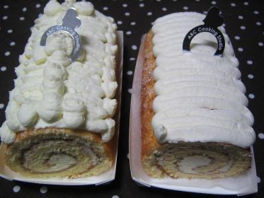 純白のロールケーキ