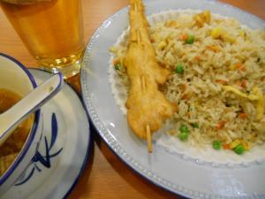 夜ご飯市民会館近くの中華料理屋