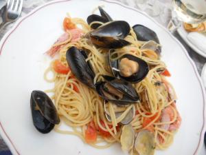 昼ごはん トラットリアサントーマ/Trattoria Sun Toma 魚介パスタ