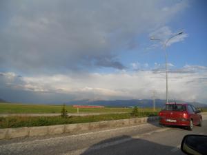 空港へ行く道/On the road to the airport