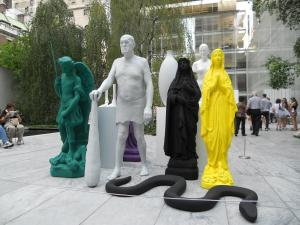 ニュヨーク近代美術館(モマ)彫刻の庭/The sculpture garden in the museum of morern art (moma)
