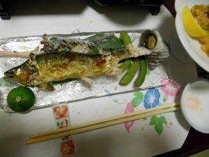 夜ごはん・鮎/Today's dinner