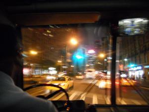 バスから見たコロンブスサークル/Columbus Circle