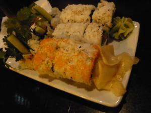 シアトルのバーでアジア料理4