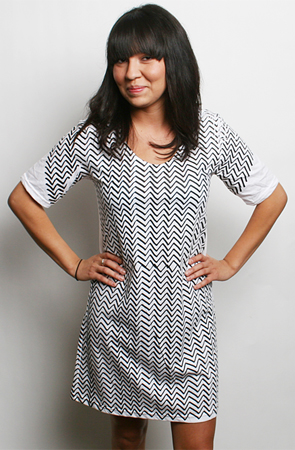 Karmaloop - burger - dress zigzag