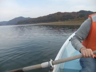 手漕ぎボート初挑戦